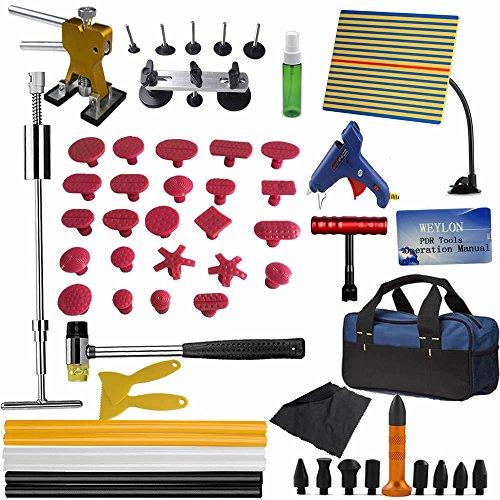 Weylon 59Pcs PDR Paintless Dent-Kit rimozione...