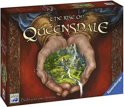 Ravensburger 82412 Rise of Queensdale Strategie-Brettspiel für Kinder & Erwachsene, Alter 12 und Jahre, Bauen Sie Ihr eigenes Destiny-Englisch Version, Mehrfarbig