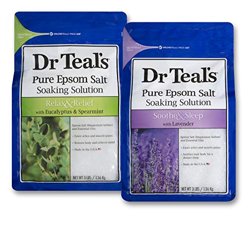 Dr Teal's Epsom Salt Bath Soaking Solution, Eucalyptus and Lavender