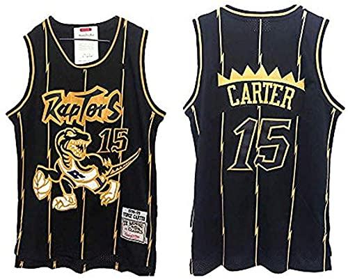 xzl NBA Toronto Raptors 15 # Vince Carter Maglia Vintage All-Star, Uomo E Unisex Ricamato Basket T-Shirt Jersey, C - XXL