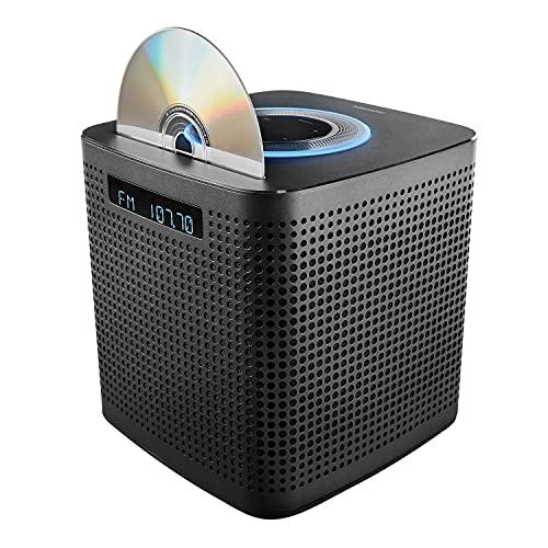 MEDION P64430 - Microcadena de audio WLAN con Amazon Alexa (sistema compacto, 2 x 15 W RMS, FM PLL, DLNA, reproductor de CD/MP3, control por voz, función multiroom, transmisión de música), color negro
