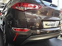 NCUIXZH ヘッドライト前のABSクローム装飾フレームリアテールライト装飾フレームカースタイリング、ヒュンダイツーソン2015-2018用