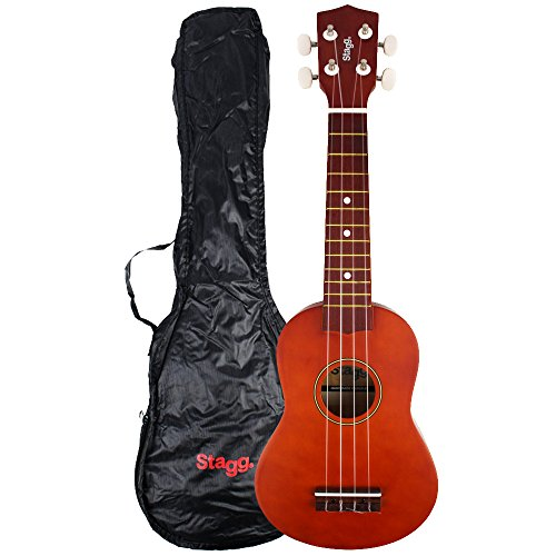 Stagg US10 - Ukelele Soprano, color marrón oscuro natural