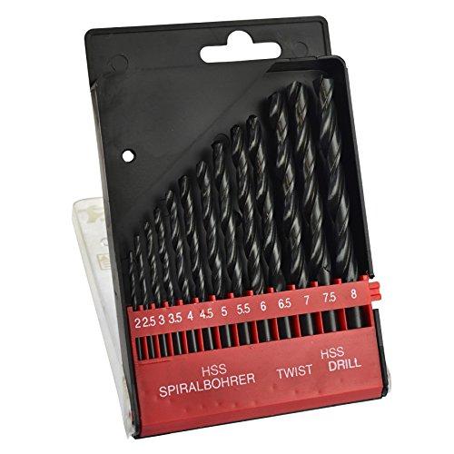 HSS Twist drill bit set 13pc metric 2mm - 8mm metal wood precision BERGEN AT361