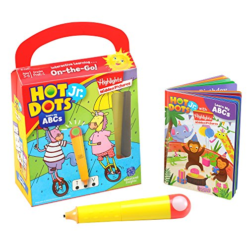 Educational Insights Hot Dots Jr. with Highlights On-The-Go! Learn My ABCs