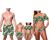 Baby Boy Girl Swimwear Father Son Swim Trunks Mommy and Me Two Piece Swimsuits Hawaii Family Matching Bathing Suits (6-7 Years, Girl Bikini)