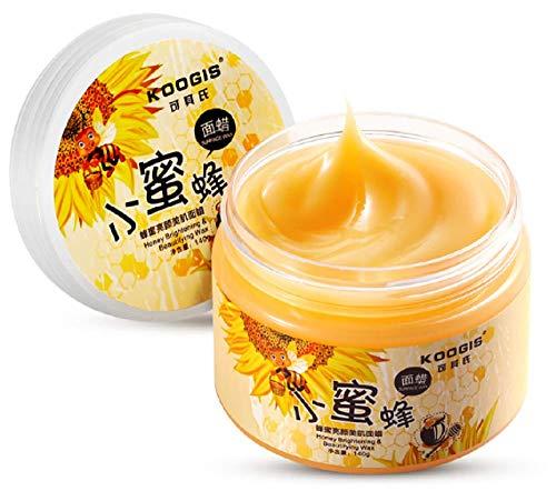 LM, maschera facciale al miele per la rimozione di punti neri, maschera di bellezza alla cera d api, maschera peel off sbiancante