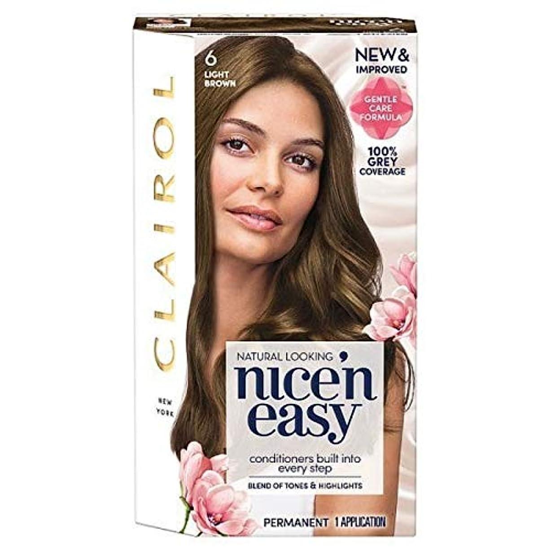 脳悲しみ音声学[Nice'n Easy] Nice'N簡単な6ライトブラウン - Nice'n Easy 6 Light Brown [並行輸入品]