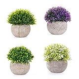 EKKONG Plantas Artificiales Suculentas Plásticas Flor pequeñas en Maceta para decoración del...