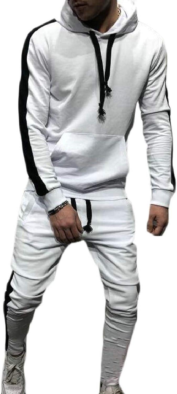 PujinggeCA Men Hoodie Sweatshirt Pants Sets Tracksuit Jogging Sweatsuit