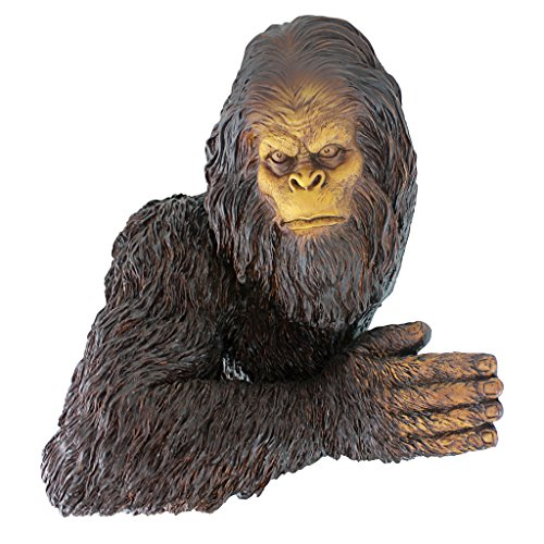 Design Toscano Bigfoot the Bashful Yeti Garden Tree Sculpture, 15 Inch, Polyresin, Full Color