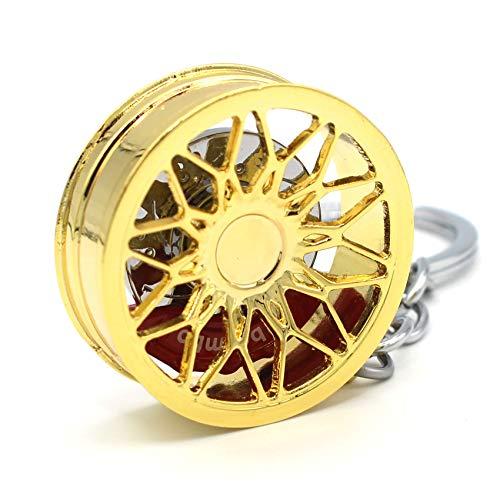 VmG-Store Llavero de llanta de metal, diseño 125 colgantes para llaves (dorado cromado)