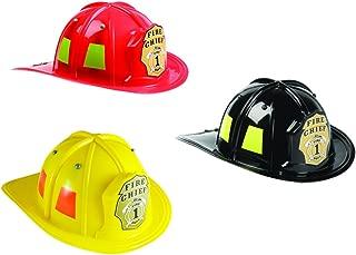 Aeromax Jr. Firefighter Helmet Assortment Black, Red, and Yellow