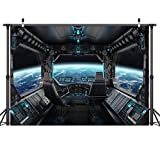 LYWYGG 10x8ft Vinyl Spaceship Interior Background Futuristic Science Fiction Photography Backdrops Spacecraft Cabin Photo Shoot Studio Props Astronomy Universe Galaxy Outer Space Station CP-37-1008