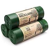 Relevo 100% Reciclado Bolsas de Basura, extra resistentes 100 L, 30 bolsas
