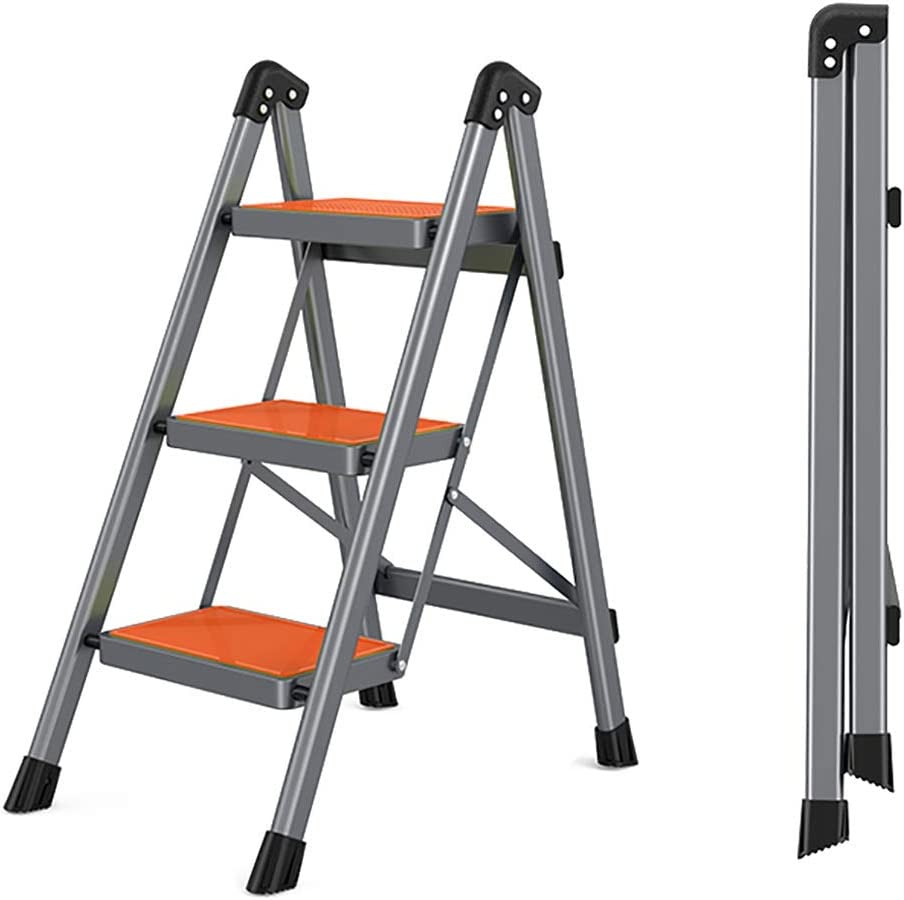 WSNBB 3 Step Ladder Shelf outlet Folding Lightweight Carbon with Steel Direct stock discount
