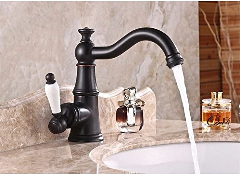 Gyps Faucet Basin Mixer Tap Waterfall Faucet Antique Bathroom Mixer Bar Mixer Shower Set Tap antique bathroom faucet Retro Black Washbasin Faucet full copper cold water faucet black bathroom sink fauc