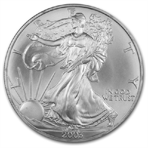 2003 - American Silver Eagle .999 Fine Silver with Our Certificate of Authenticity Dollar Uncirculated US Mint