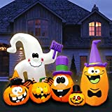 Yostyle 8FT Long Halloween Inflatables Pumpkin with...