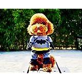 【PETLIFE ペットライフ】小型犬、ネコ用 スーパマン、バッドマン、スパイダーマンス コスチューム 前掛けタイプ ドッグウェア変身服 3サイズ「901-0041」 (バッドマン M)