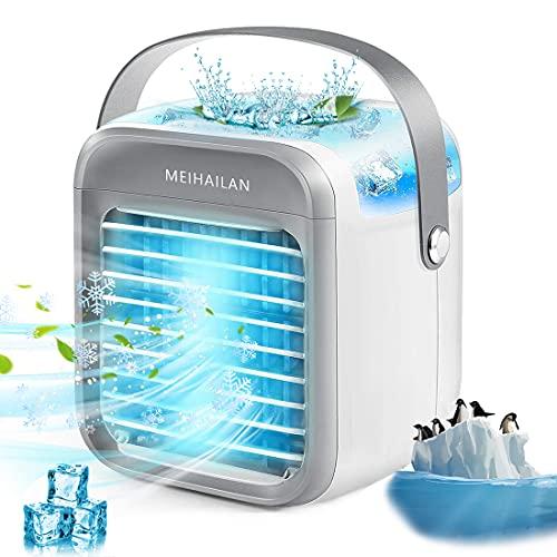 Mobile Klimageräte, Blast Portable Ac Klimaanlage - Portable USB 2000mAh - Schnelle Kühlung in Sekunden 30 Just - Mini Persönliche Klimageräte, Luftkühler, Luftbefeuchter und Luftreiniger (Weiß)