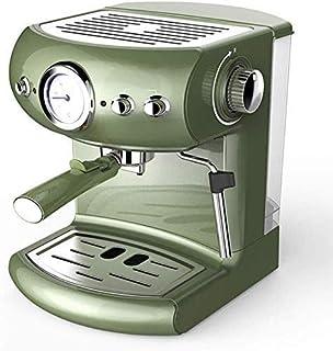 PXX Hogar Italiana Cafetera 19Bar Cafetera Exprés Semi Automático de Presión de la Bomba de Visualización Doble de Control...