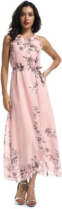Maison Jules Womens Chiffon Floral Print Cinch-Waist Halter Dress BHFO 5007
