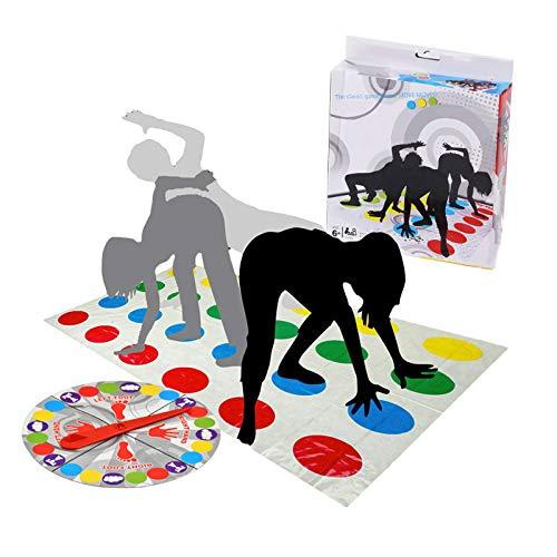 BaiJ Twister Juego,Juegos de Suelo Gaming Familiar Tapete de Juego para Movimientos Corporales Niños Adultos Fiesta Picnic Deporte al Aire Libre(con Caja de Color)