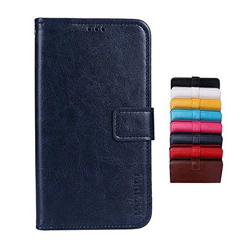 SHIEID Hülle für LG Q Stylus Brieftasche Hülle PU+TPU Kunstleder Handyfall Geeignet für LG Q Stylus mit Stand Funktion EIN Stent-Funktion (Dunkelblau)