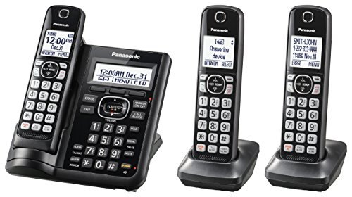 top 10 cordless phone with talking caller id PANASONIC cordless phone system with answering machine, call prohibition at the push of a button, increased noise level …