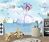 Tapete Wandbild 3D Cartoon Landschaft Schlafzimmer Kinderzimmer Hintergrund Wandmalerei...