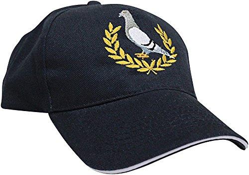 Fan-O-Menal Baseballcap mit Einstickung - Taube Lorbeerkranz - TB675 schwarz