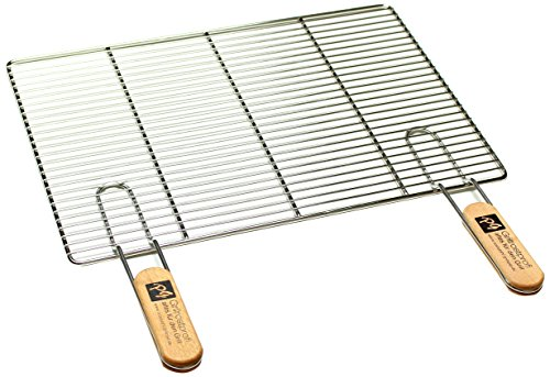 PG Metalltechnik Edelstahl Rost Grillrost - rechteckig und rund - Grill Rost Grössenauswahl (60 x 40 cm mit Griffen)