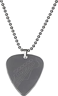 PUNK Stainless Steel Pick Necklace for Electric Bass Guitar Variety Creative Designs (1A)