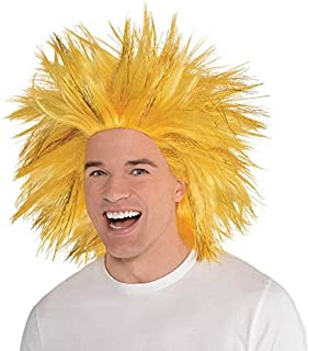 Amscan Crazy Party Wig Costume, Gold