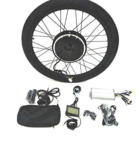 "theebikemotor 48V1000W Hub Motor Ebike Bicicleta ELÉCTRICA Kit DE CONVERSIÓN + Tire + LCD Display (Rear Wheel + Shimano Disc Brake + 7 Speed Gear, 20"")"