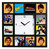 Final Score Products The Monkees Davy Mike Peter Micky Clock with 12 Pictures