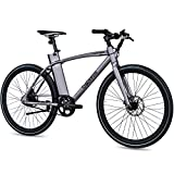 CHRISSON 28 Zoll E-Bike mit Riemenantrieb eOCTANT grau matt - Elektrofahrrad City Bike mit Aikema Hinterrad -Nabenmotor 250W, 36V, 40 Nm, Pedelec für Damen und Herren, praktisches E-City Bike