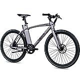 CHRISSON 28 Zoll E-Bike mit Riemenantrieb eOCTANT grau matt - Elektrofahrrad City Bike mit Aikema...