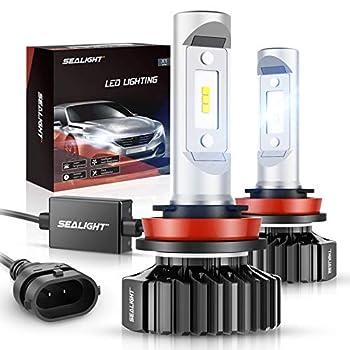 SEALIGHT H11/H8/H9 LED Bulbs X1 Series 12 CSP Chips 14000LM 6000K Xenon White Non-polarity