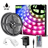 LE Tira Luz RGB 10M, Tira LED 300 SMD 5050, Multicolor y Regulable, Tira Luces LED RGB Impermeable IP65 con 20 Colores 8 Modos, Control Remoto de 44 Teclas, Tiras LED TV para Decoración, Paquete de 2