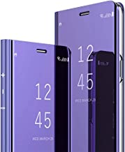 Samsung Note 9 Case, COTDINFORCA Mirror Design Clear View Flip Bookstyle Luxury Protecter Shell with Kickstand Case Cover for Samsung Galaxy Note 9 (2018). Flip Mirror: Purple