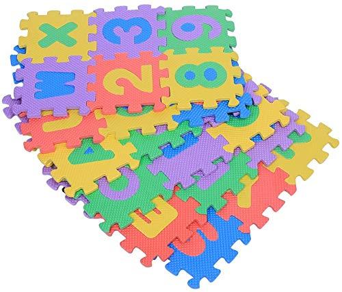36 pezzi Tappetino in schiuma Eva, tappetino da gioco puzzle per palestra per bambini Piastrelle per pavimento morbide ad incastro Cameretta per bambini Area giochi (colore casuale)