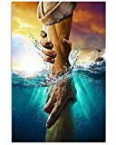 Don't Be Afraid Just Have Faith Reaching Out Jesus Hand Print, Jesus Save Us Poster (Paper, 24x36)