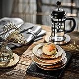 Ronda Coaster Bebida de madera con aislamiento térmico Vaso de madera Mat Cup Coaster Aislamiento Accesorios de cocina