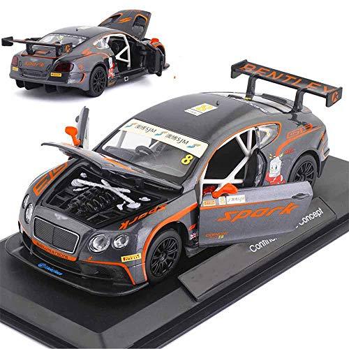 Weaston 1:24 Modelo de Coche de simulación Continental GT3 Super Sports Car Aleación Fundición a presión Decoraciones Interiores de automóviles Coleccionables Adecuado para Adultos y niños Regalos de