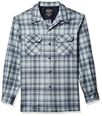 Long-sleeve wool shirt with spread collar, button-front placket, and dual chest pockets With strict emphasis on warranted to be a Pendleton quality and craftsmanship, the finest woolen fabrics are woven in the company's two pacific northwest mills, s...