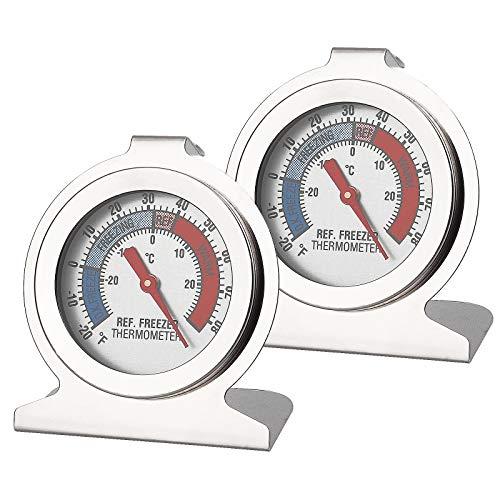 Herefun Kühlschrankthermometer, digitales Thermometer zum Testen von Kühlschränken, Kühlschränken, Gefrierthermometern, kleinen runden, Genaues Thermometern (2)