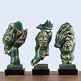 Yxsd Adornos Abstracto Moderno de la Escultura Figura Dormitorio la decoración del hogar Sala de Estar Estudio Creativo Casa de carácter Craft (Color : D A+b+c)