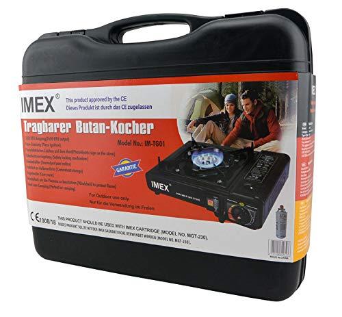 i-mex IMEX Camping Gaskocher Set Butan-Kocher Klein im Tragekoffer